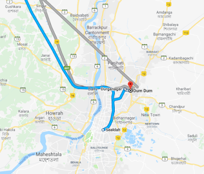 Godrej Dum Dum Location map