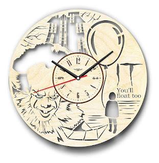 Stephen King It Wood Clock,Stephen King Gifts, Stephen King Merchandise, Stephen King Store
