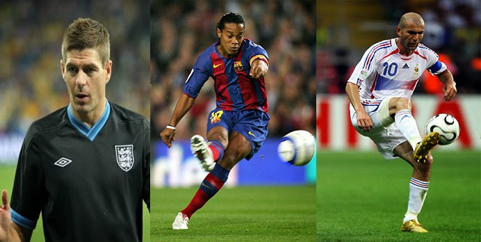 Top five midfielders of last decade