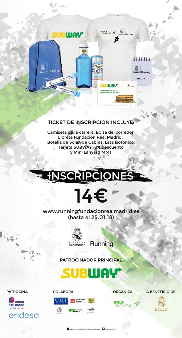 Apúntate a la II Carrera Solidaria Fundación Real Madrid