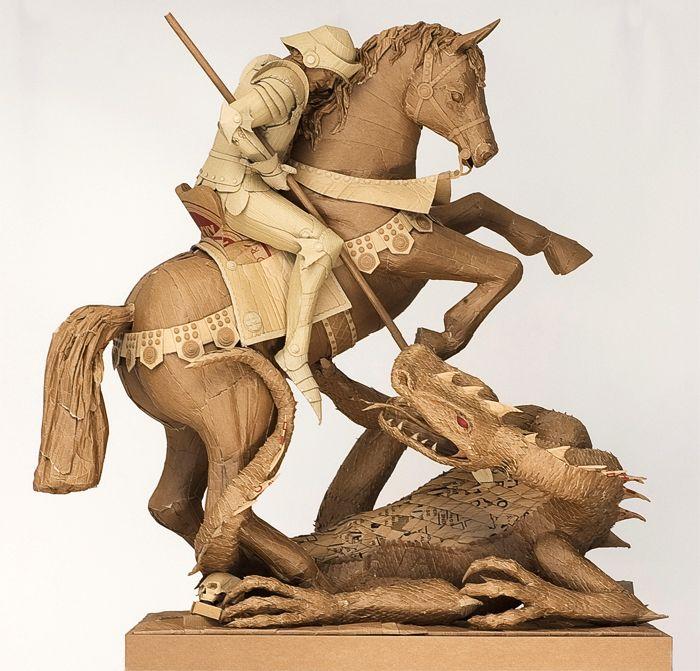 Скульптуры из картона. Chris Gilmour 2
