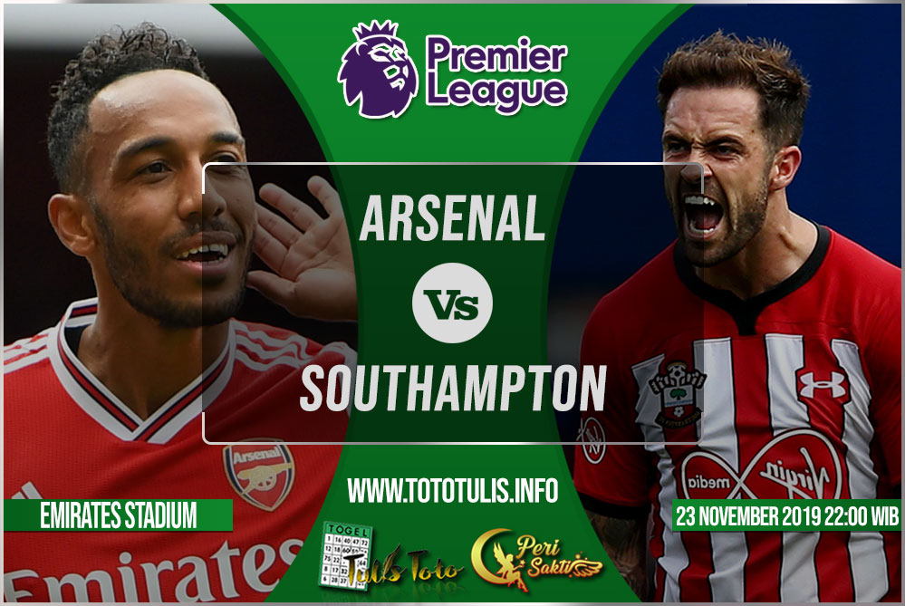 Prediksi Arsenal vs Southampton 23 November 2019