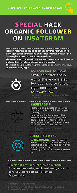Infographic How to Grow Instagram Followers Organically Special Guide