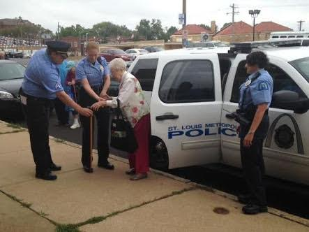Woman, 102, ticks the strangest item off her bucket list - being 'arrested' and handcuffed by police