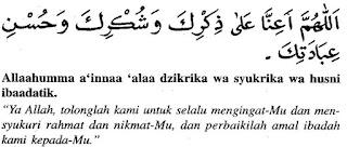 Doa setelah sholat fardhu dan artinya 5