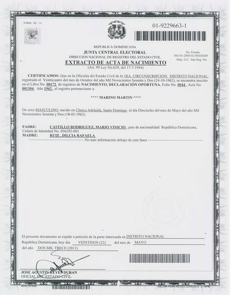 Famoso Certificado De Nacimiento En Hawai Colección de Imágenes ...