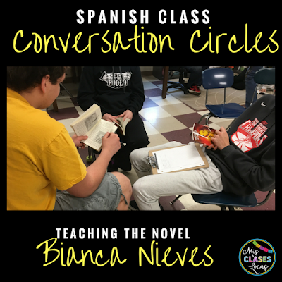 Teaching the novel Bianca Nieve y los 7 torritos - conversation cirlces