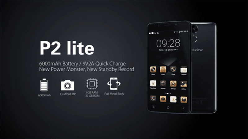 Blackview P2 Lite Boasts 6000 mAh Battery For Less!
