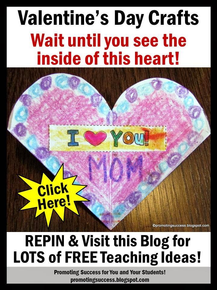 Promoting Success Valentine\u0027s Day Crafts Printable Card for Kids