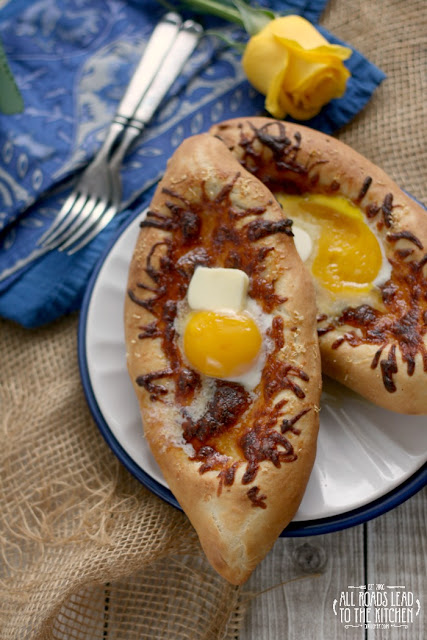 Acharuli Khachapuri (Georgian Cheese and Egg Bread)