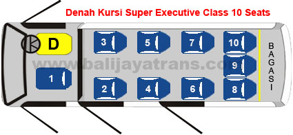 Super Executive Class 10 Seats | Balijayatrans.com