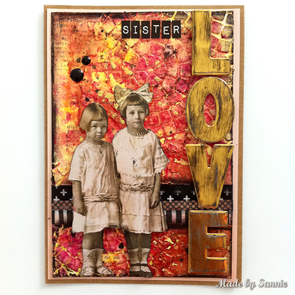 Sister Love Card With Video Tutorial Made By Sannie
