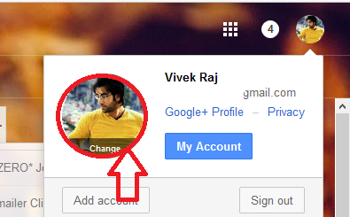 how to change the profile pic on gmail