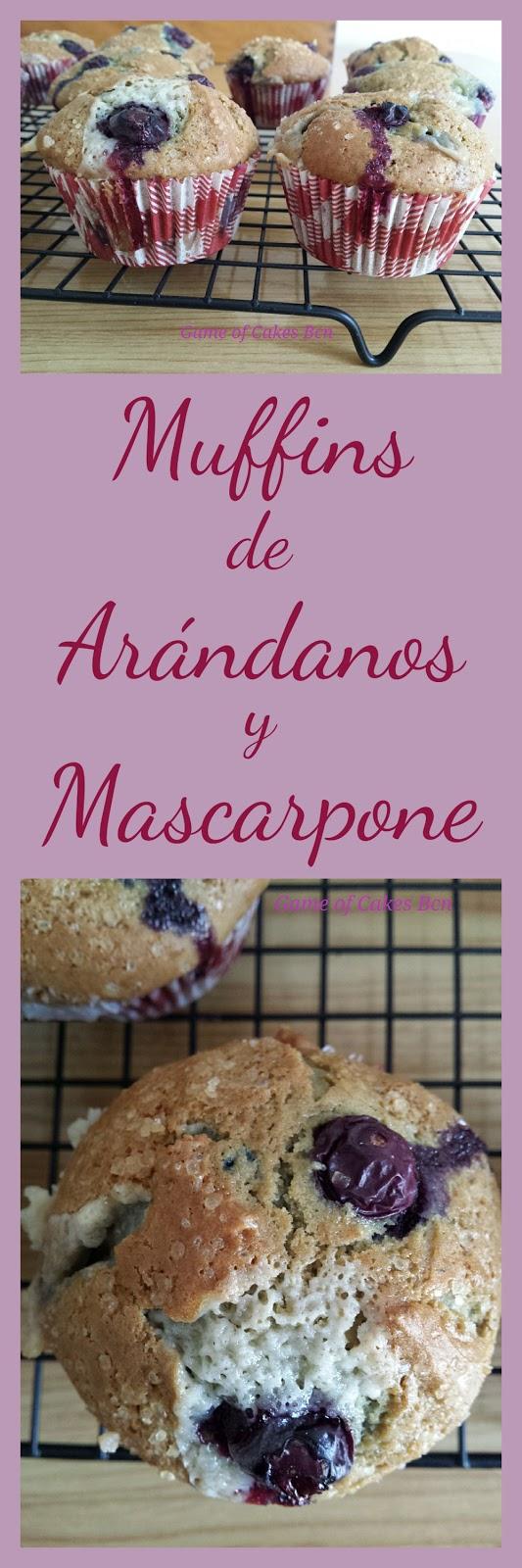 Muffins de arandanos y mascarpone game of cakes bcn