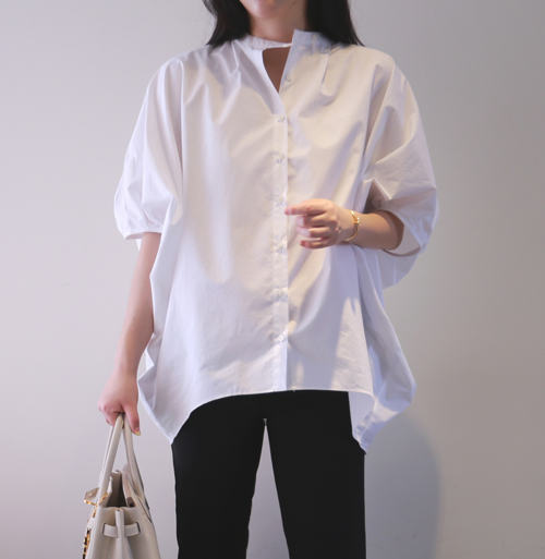 Dolman Sleeve Loose Fit Shirt