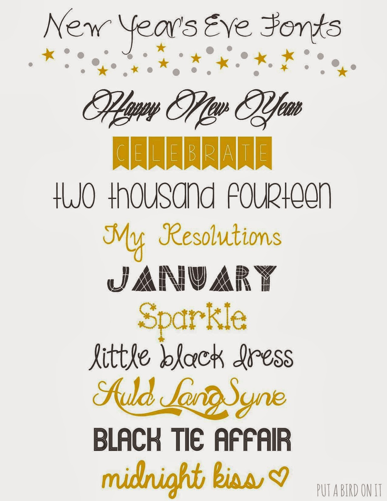 Put A Bird On It New Year S Resolution List