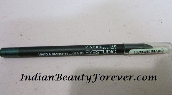 Maybelline eyepencil in Peacock Green