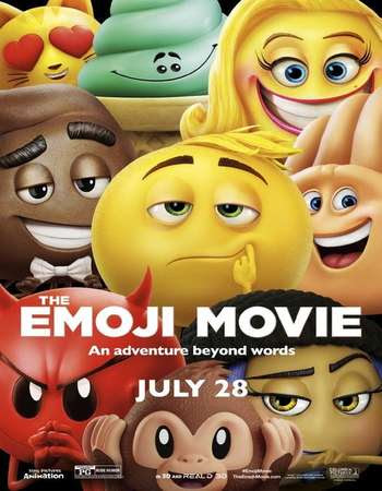 Poster Of The Emoji Movie In Dual Audio Hindi English 300MB Compressed Small Size Pc Movie Free Download Only At worldfree4u.com