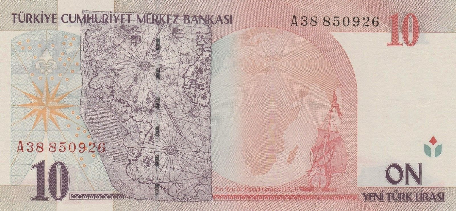 10 New Turkish Lira banknote 2005|World Banknotes & Coins Pictures ...