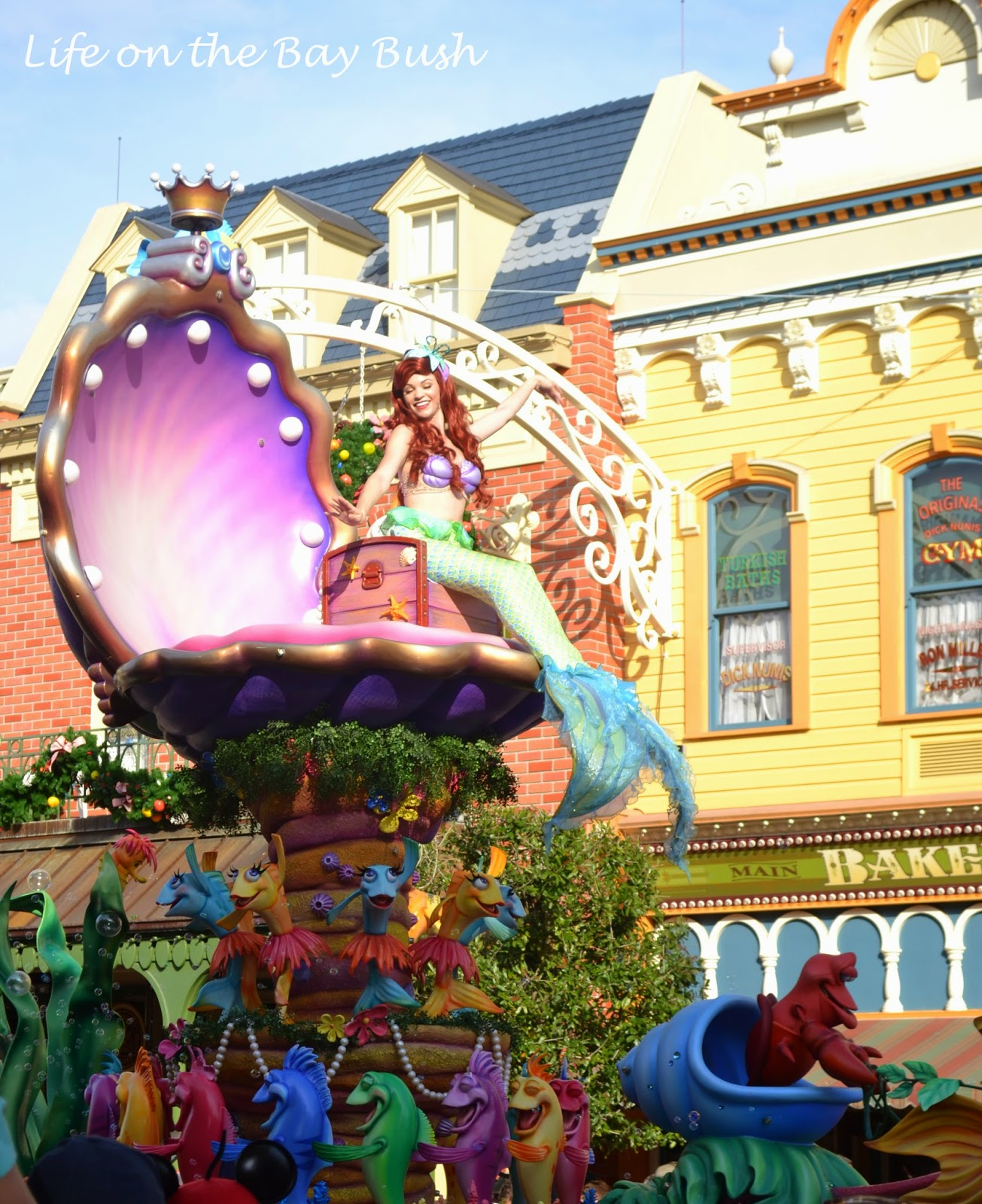 Ariel's float in the Magic Kingdom