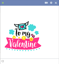 To My Valentine Sticker