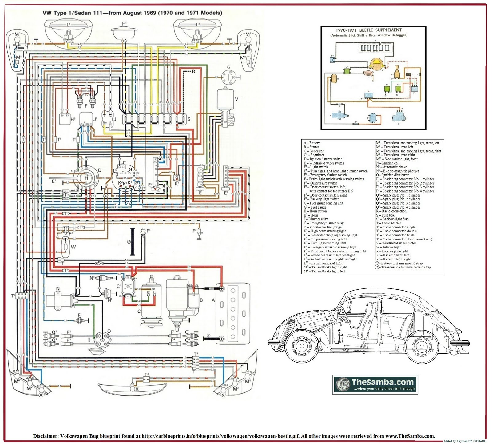 The 1966 Volkswagen Beetle Headlight Switch Wiring This Diagram