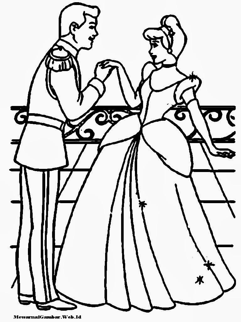Gambar Download Gambar Mewarnai Cinderella Happy Smile