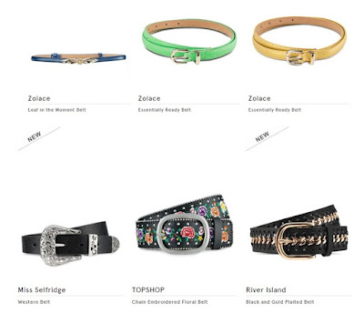 new at zalora, women belt, skinny belt, TOPSHOP at ZALORA