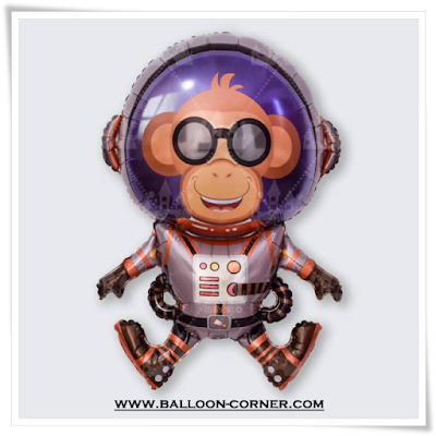 Balon Foil Space Monkey Eddie