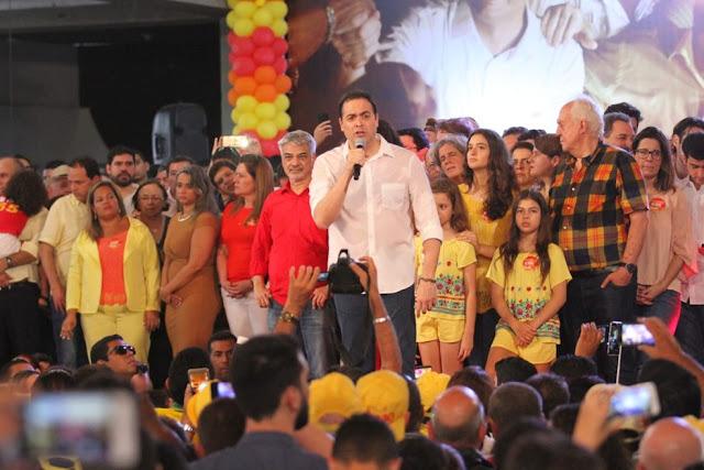Candidatura de Paulo Câmara e Luciana Santos, é oficializada ao governo do Estado