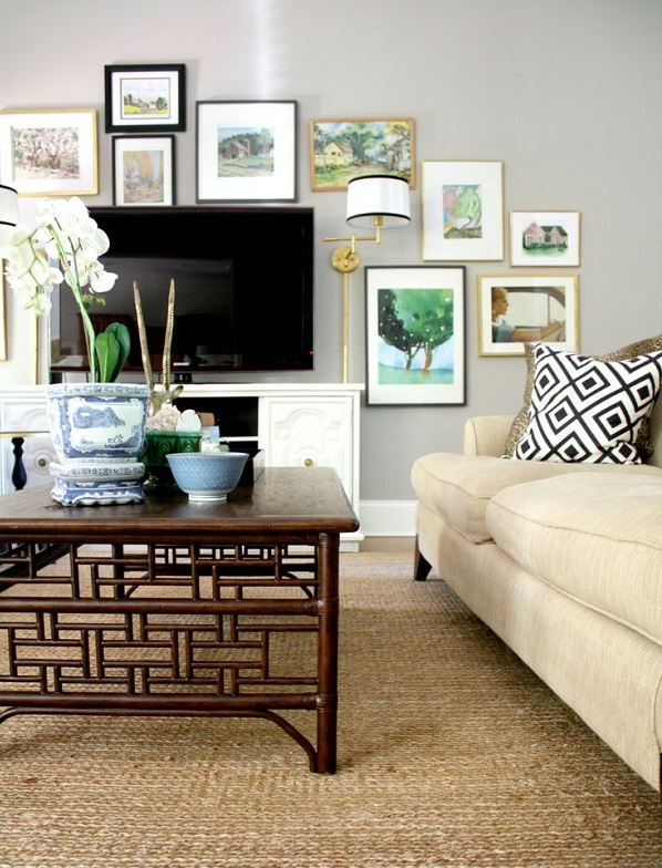 Ideas for decorating around the TV