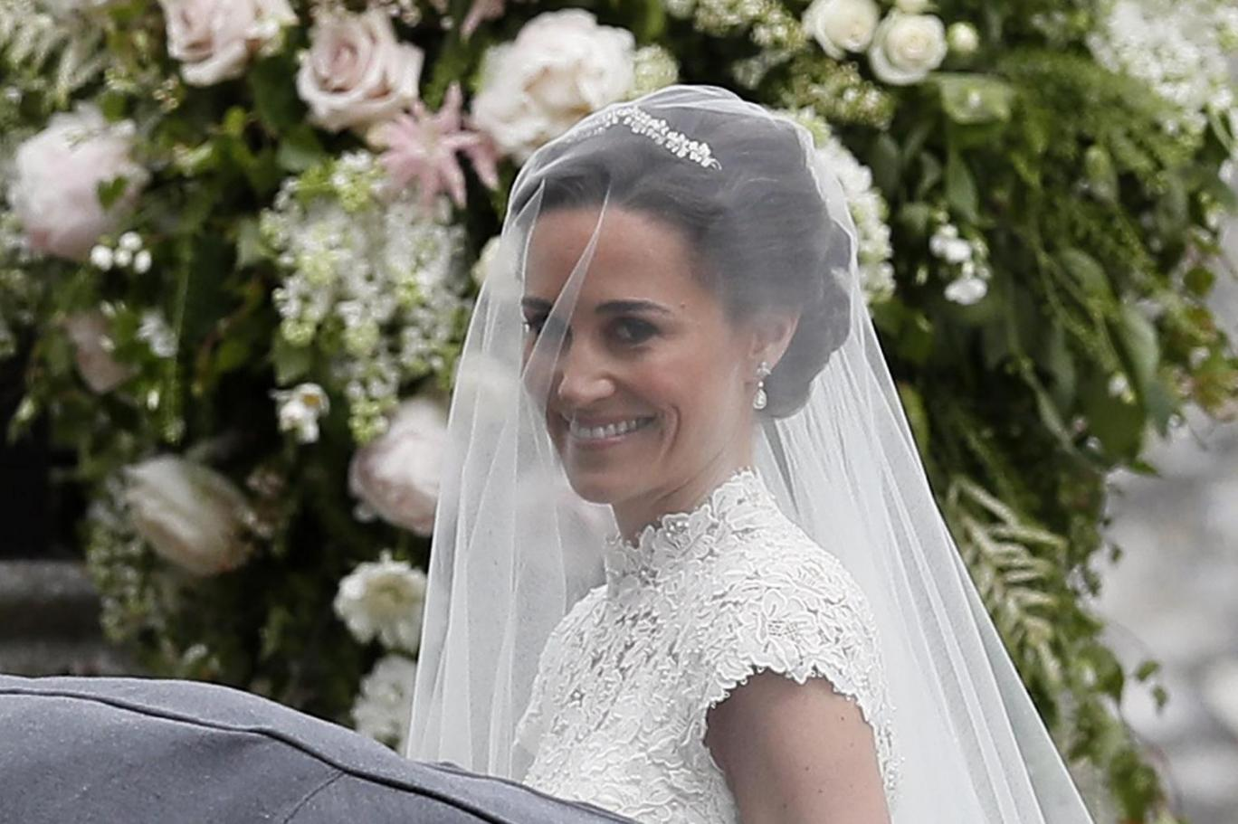 Pippa Middleton wedding: Stunning bride Pippa Middleton and groom James Matthews arrive at church for ceremony