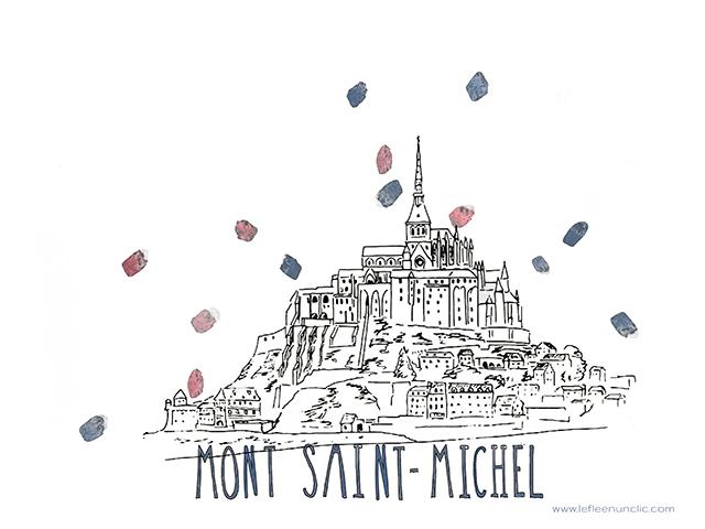 Mont Saint-Michel, histoire du Mont Saint-Michel, France, FLE, le FLE en un 'clic'