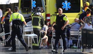 At least 13 dead as van rams into crowd in Barcelona