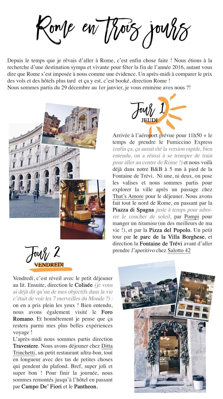 Voyage rome en trois jours lucile in wonderland lucileinwonderland fontaine de trévi colisée colosseum