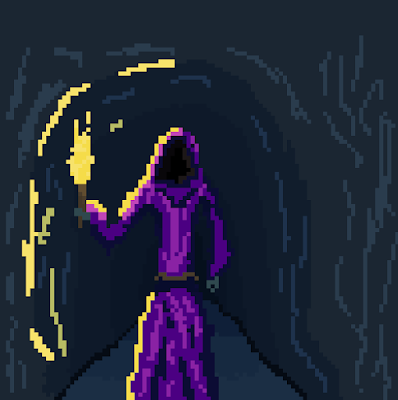 Into the Cave Pixel Art
