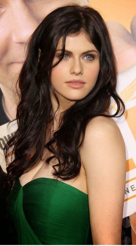 Beautiful Alexandra Daddario in Green