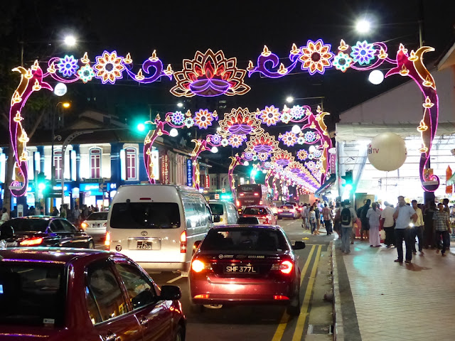 Street of Singapore's Little India illuminated for Diwali festival