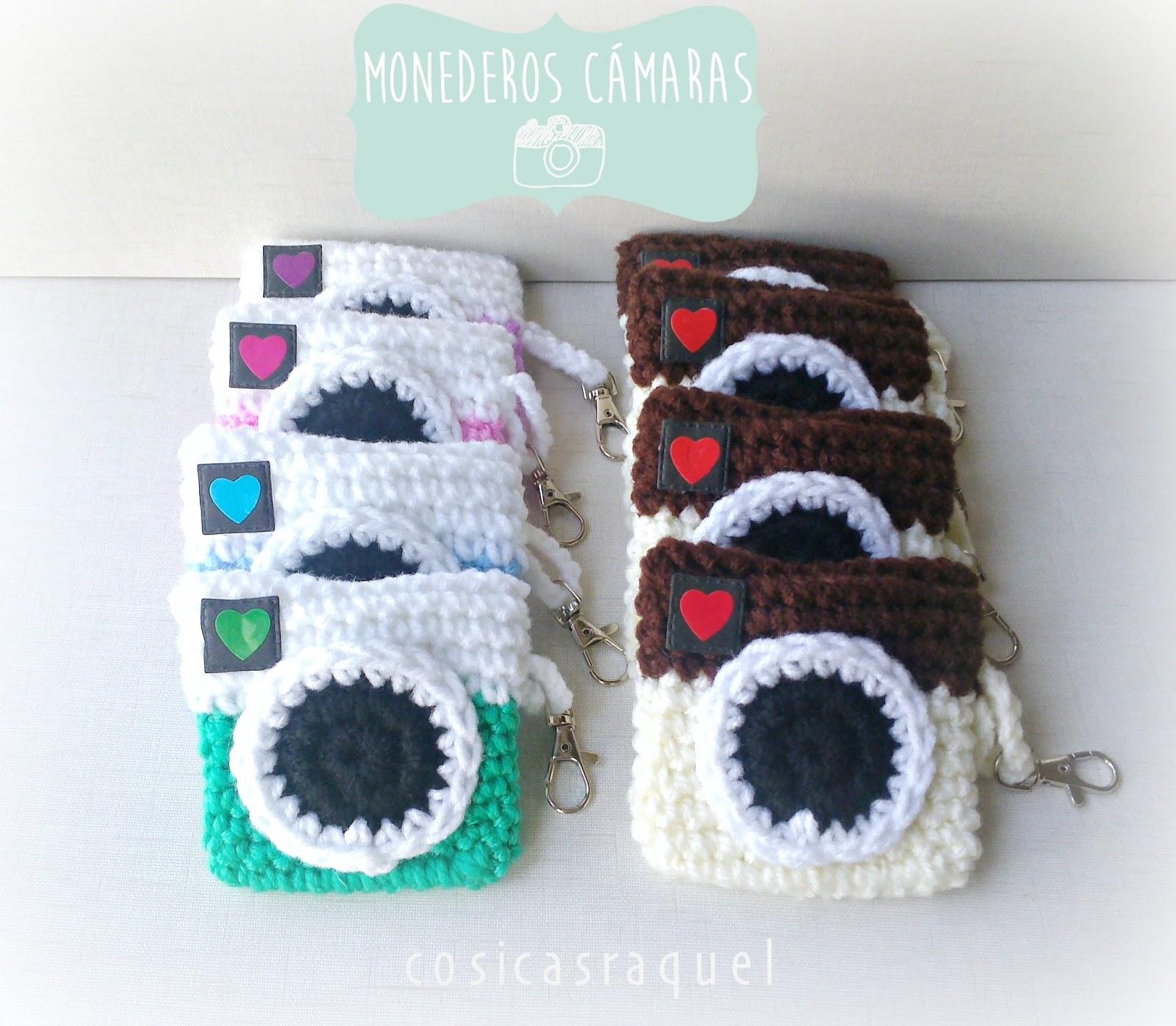Cosicasraquel Monedero Camara Crochet - Monederos-ganchillo