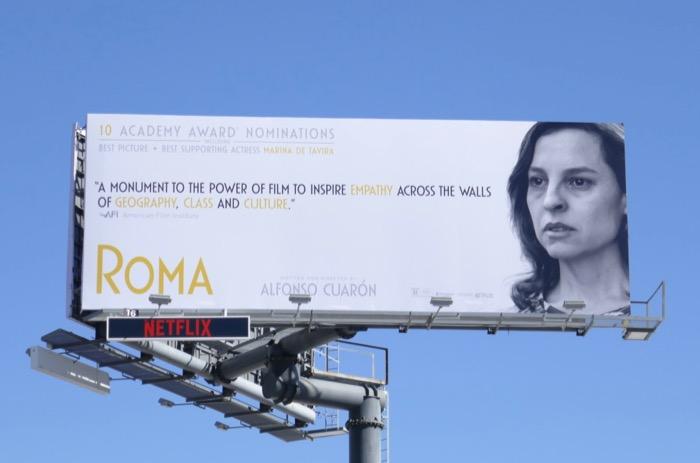 Marina de Tavira Roma Oscar nominee billboard