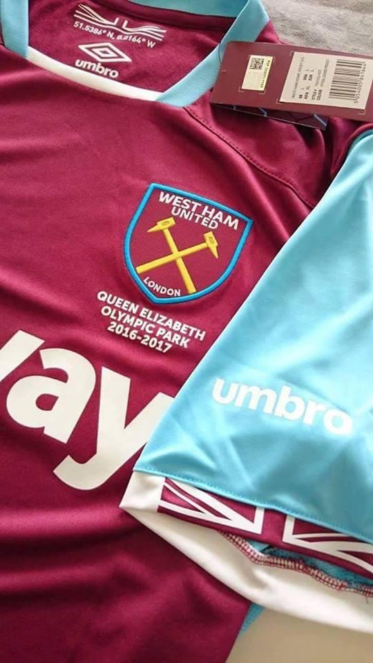 2b62f320b1 Camisas de Futebol  Camisa reserva do West Ham 2016-17 faz ...