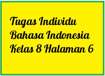 Tugas Individu Bahasa Indonesia Kelas 8 Smp Halaman 6 Operator Sekolah