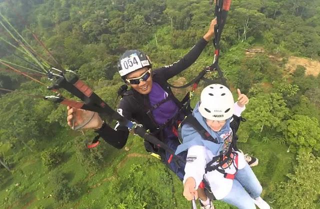 Wisata majalengka Paralayang Gunung Panten