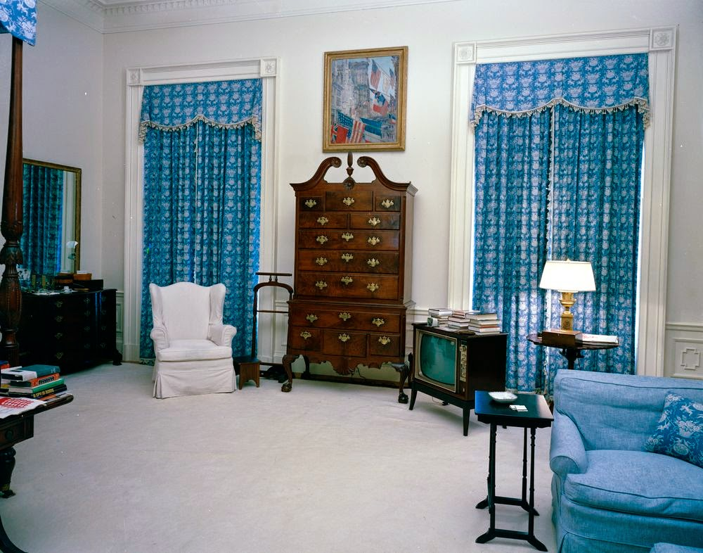 view of president john f kennedy's rooms white house in