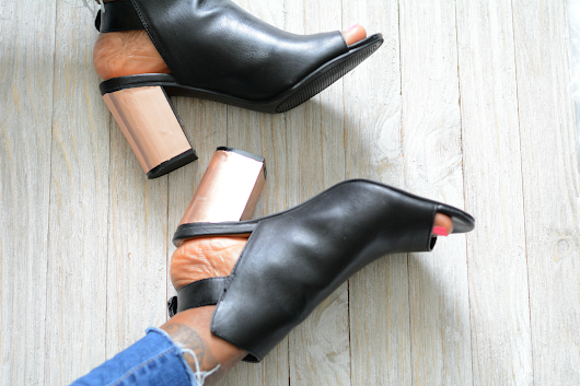 DIY Metallic Reflective Copper Heels