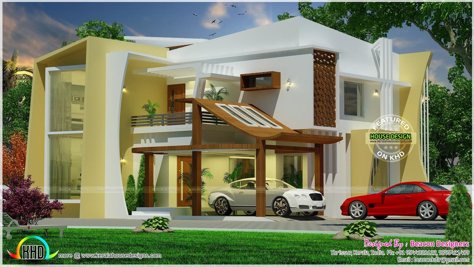4 Bedroom Unique Model Home Kerala Home Design And Floor