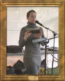 Writer Sandra Ridley, at the Cathedral Village Arts Festival 2011