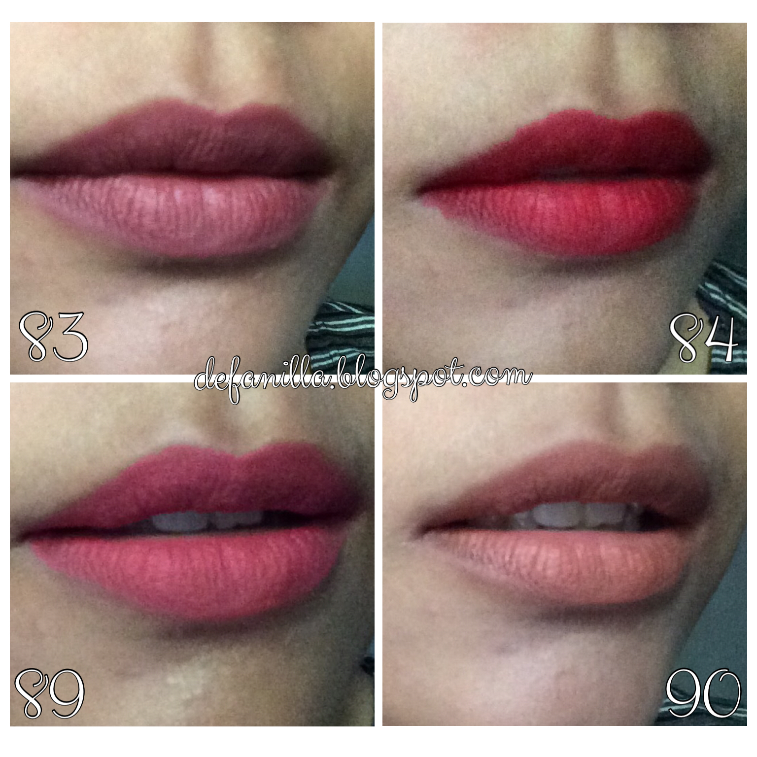 Lovely Review Purbasari Matte Lipstick 83 Piruz 84 Ruby