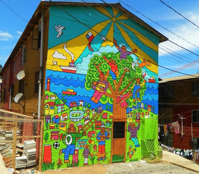 Visitar o Museu a Céu Aberto com crianças em Valparaíso