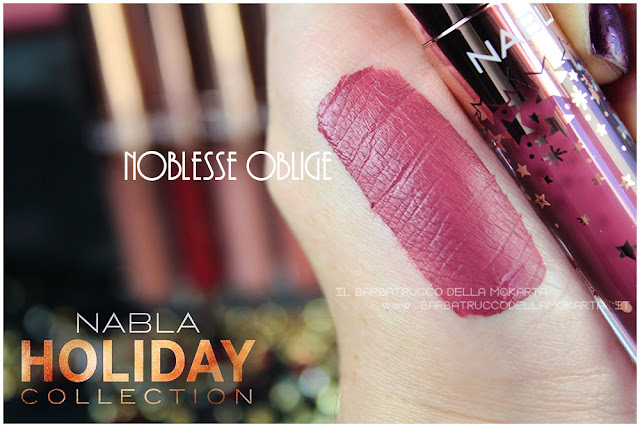 noblesse oblige swatches  liquid lipstick nabla rossetto liquido